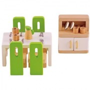 Hape - Dining Room Wooden Doll House Furniture