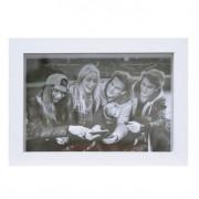 Porta-Retrato Caixa Color Branco 10x15cm