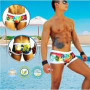Icker Sea City Cachetero Square Cut Trunk Swimwear COB-14-CTT04