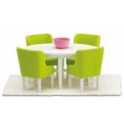 Lundby Smaland Dining Room Set - White