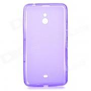 LX-1320 elegante protector TPU caso trasero para Nokia Lumia 1320 - purpura translucido