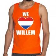 Bellatio Decorations Oranje We Love Willem tanktop / mouwloos shirt voor heren