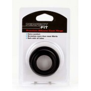 Perfect FIT Silicone 3 Ring Kit Mix (M + L + XL) - Black