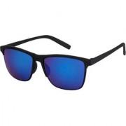 Adrian Wayfarer Rectangular Sunglasses(Blue)