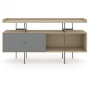 BDI MargoC Console Drift Oak w/ Fog Gray Door