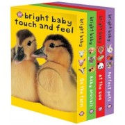 Bright Baby Touch & Feel Boxed Set: On the Farm, Baby Animals, at the Zoo and Perfect Pets, Hardcover