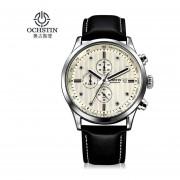 OCHSTIN 042 Cronógrafo De Lujo Relojes Hombre Relojes De Cuarzo Relojes De Pulsera Deportivo -Plata&White