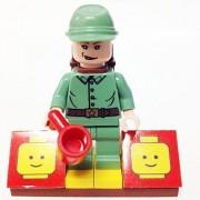 "Minifigure Packs: Lego Indiana Jones Bundle ""(1) Russian Soldier"" ""(1) Figure Display Base"" ""(2) Figure Accessories (Backpack & Coffee Cup)"""