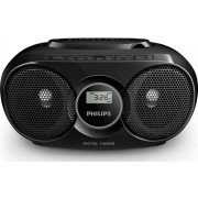 Micro Sistem Audio Philips AZ318B/12, USB, CD/MP3 Player, Radio FM, 3 W (Negru)