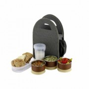 Jay Balaji Lunch Box Lunch Boxes for School Lunch Box Steel with 3 Push-up Air Tight Leakage Proof Containers 1 Ca