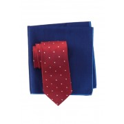Ted Baker London Textured Dot Tie Pocket Square Set RED
