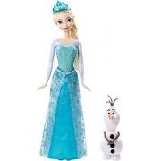 Mattel Disney Frozen Sparkle Princess Elsa and Olaf Doll Gift Set