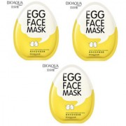 BIOAQUA Whitening Facial Egg Face Mask Anti Aging Moisturizing Shrinking Pores Wrapped Mask - Pack of 3