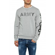 Replay Sweatshirt, Rundhals grau
