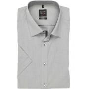 OLYMP Level Five Body Fit Hemd Kurzarm grau, Einfarbig