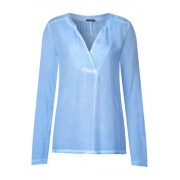 STREET ONE Shirt met vintage wassing - ice blue oilwash