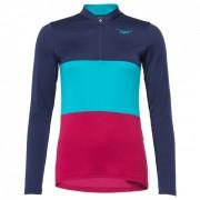 Triple2 - Swet Merino Jersey Women L/S - T-shirt technique taille L, bleu/rose/turquoise