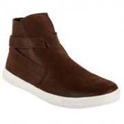 Goosebird Stylish Party Wear Brown Boots For Men's