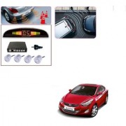 Auto Addict Car Silver Reverse Parking Sensor With LED Display For Hyundai Elantra