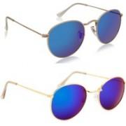 Phenomenal Oval Sunglasses(Blue, Green)