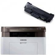 Лазерно многофункционално устройство Samsung SL-M2070 A4 Mono Laser MFP, 20pp - SL-M2070/SEE + Съвместима тонер касета MLT-D111S