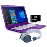 Laptop Hp Stream 14-CB013WM Intel Dual Core Ssd 32gb Ram 4gb + Kit - Moraddo