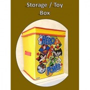Toys Organizer Storage Box with Top Lid for Baby Boy's and Baby Girl's
