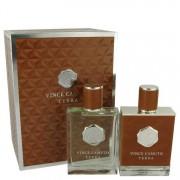 Vince Camuto Terra Eau De Toilette Spray 3.4 oz / 100.55 mL + After Shave 3.4 oz / 100.55 mL Gift Set Men's Fragrances 540350