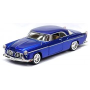 Motormax - 1/24 American Classics Die-Cast Collection 1955 Chrysler C300 (Blue)