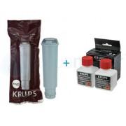 Krups Filtr do ekspresu ciśnieniowego F088 ORYGINAŁ + KRUPS XS9000 Płyn do czyszczczenia systemu cappuccino 200ml