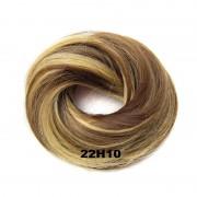 Příčesek - drdol na gumičce střapatý (22H10 (melír světle plavé a medově hnědé)) - Světové Zboží