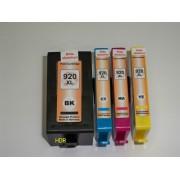 Vorteilspack 4x Tintenpatronen kompatibel, f. HP Officejet 6000 6500 7000 7500 Serien ersetzt HP Nr.920xl mit Chip