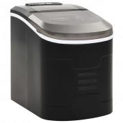 vidaXL Aparat de făcut cuburi de gheață, negru 2,4 L, 15 kg / 24 h