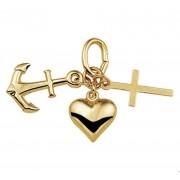 TFT Hanger Geelgoud Geloof, Hoop En Liefde