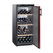 Wijnkoelkast Zwart/Bordeaux Rood - Dichte Deur | 164 Flessen | Liebherr | 322 Liter | WKr 3211 | 60x74x(h)135cm