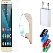 Vivo Y31/Y31L 03mm Curved Edge HD Flexible Tempered Glass with Nylon USB Travel Charger