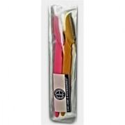 Stainless Steel Eye Brow Razor for Women 14.5cm (Multicolour) - Pack of 2