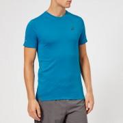 Asics Men's Seamless Short Sleeve Top - Race Blue Heather - L - Blue