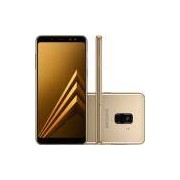 Smartphone Samsung Galaxy A8, 4G Android 7.1 Octa Core 64GB Câmera 16.0MP Tela 5.5, Dourado