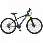 "Bicicleta Mountain Bike CARPAT Kaiser C2650A, Roti 26"", 21 viteze, Cadru otel 17"" (Negru/Albastru)"