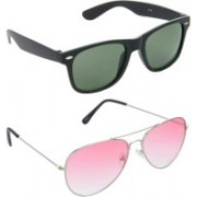 Hrinkar Wayfarer Sunglasses(Green, Red)