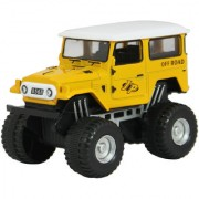 DealBindaas Die Cast Metal 132 Jeep Pull Back Action Dinky Car Toys Children Gift Collection Yellow