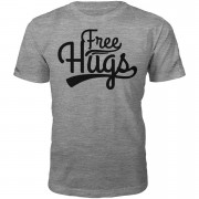 Own Brand Free Hugs Heren T-Shirt - Grijs - M - Grijs