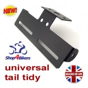 Motorcycle universal tail tidy number plate holder rsend tailtidy