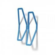 Jansen Display Nástěnný designový věšák dvojitý, modrý modrá