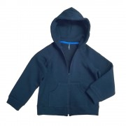 Hanorac albastru belumarin cu buzunare pentru copii