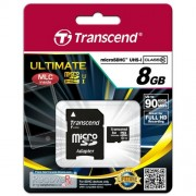 Micro SD Card, 8GB, Transcend MICRO, UHS-I Premium, 1xAdapter, Class10 (TS8GUSDHC10U1)