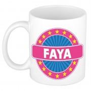 Bellatio Decorations Faya naam koffie mok / beker 300 ml