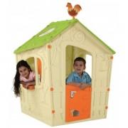 Пластмасова къща за игра Keter Magic Playhouse, бежово/зелено