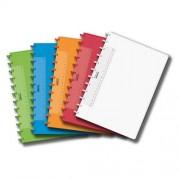 Caiet A4, 72 file - 90g/mp, coperta PP transparent color, AURORA Adoc - dictando